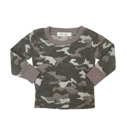 Little Mish Grey Camo Thermal Top
