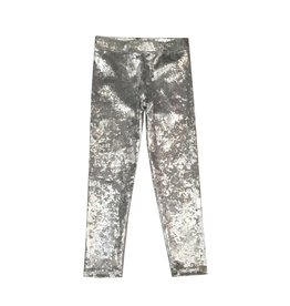 Dori Creations Silver Crushed Velvet Legging