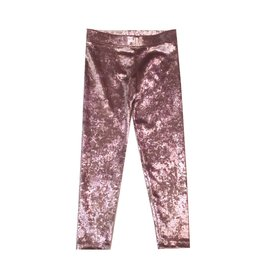 Dori Creations Pink Crushed Velvet Legging