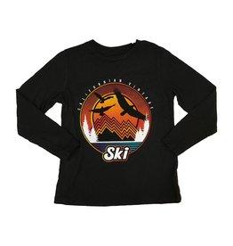 Californian Vintage Sunset Ski Top