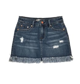 Tractr Frayed Denim Skirt