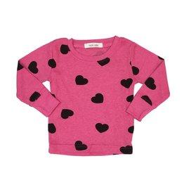 Little Mish Bubblegum Hearts Thermal Top