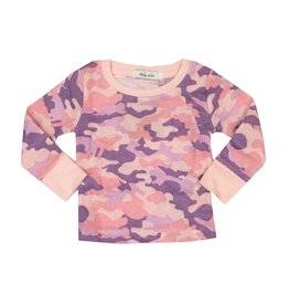 Little Mish Light Pink Camo Thermal Top