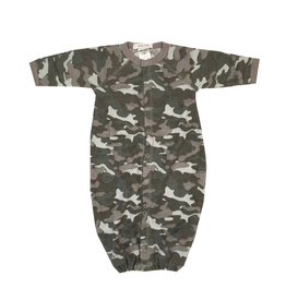 Little Mish Grey Camo Thermal Gown NB