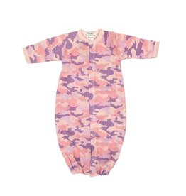 Little Mish Light Pink Camo Thermal Gown NB
