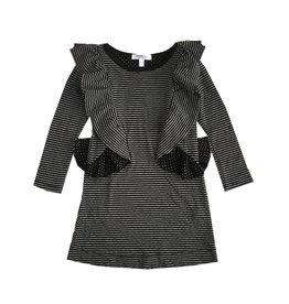 Joah Love Infant Stripe Double Knit Ruffle Dress