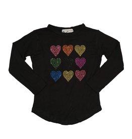 Dori Creations Rainbow Hearts Top