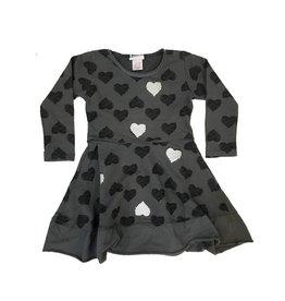 Nano Scribbled Hearts Dress