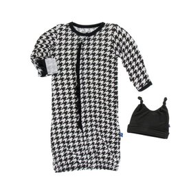 Kickee Pants Houndstooth Ruffle Gown & Hat 3-6M