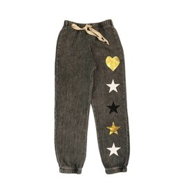 U Go Girl Metallic Heart & Star Sweatpant
