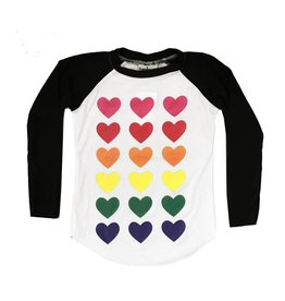 Firehouse Colored Hearts Baseball top