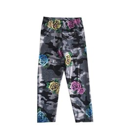 Social Butterfly Sparkle Camo Rose Leggings
