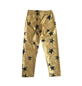 Social Butterfly Sparkle Infant Gold Star Leggings