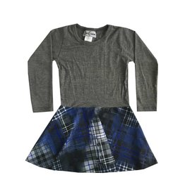 Dori Creations Blue Plaid Dress