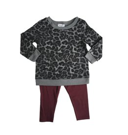 Splendid Leopard Print Legging Set