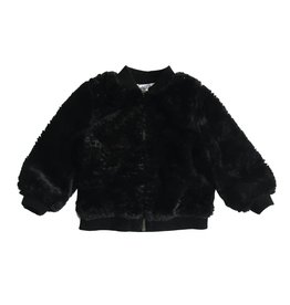 Splendid Infant Black Faux Fur Jacket