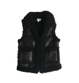 Splendid Faux Leather Black Vest