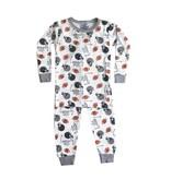 Baby Steps White Football Helmets 2pc Pajama Set