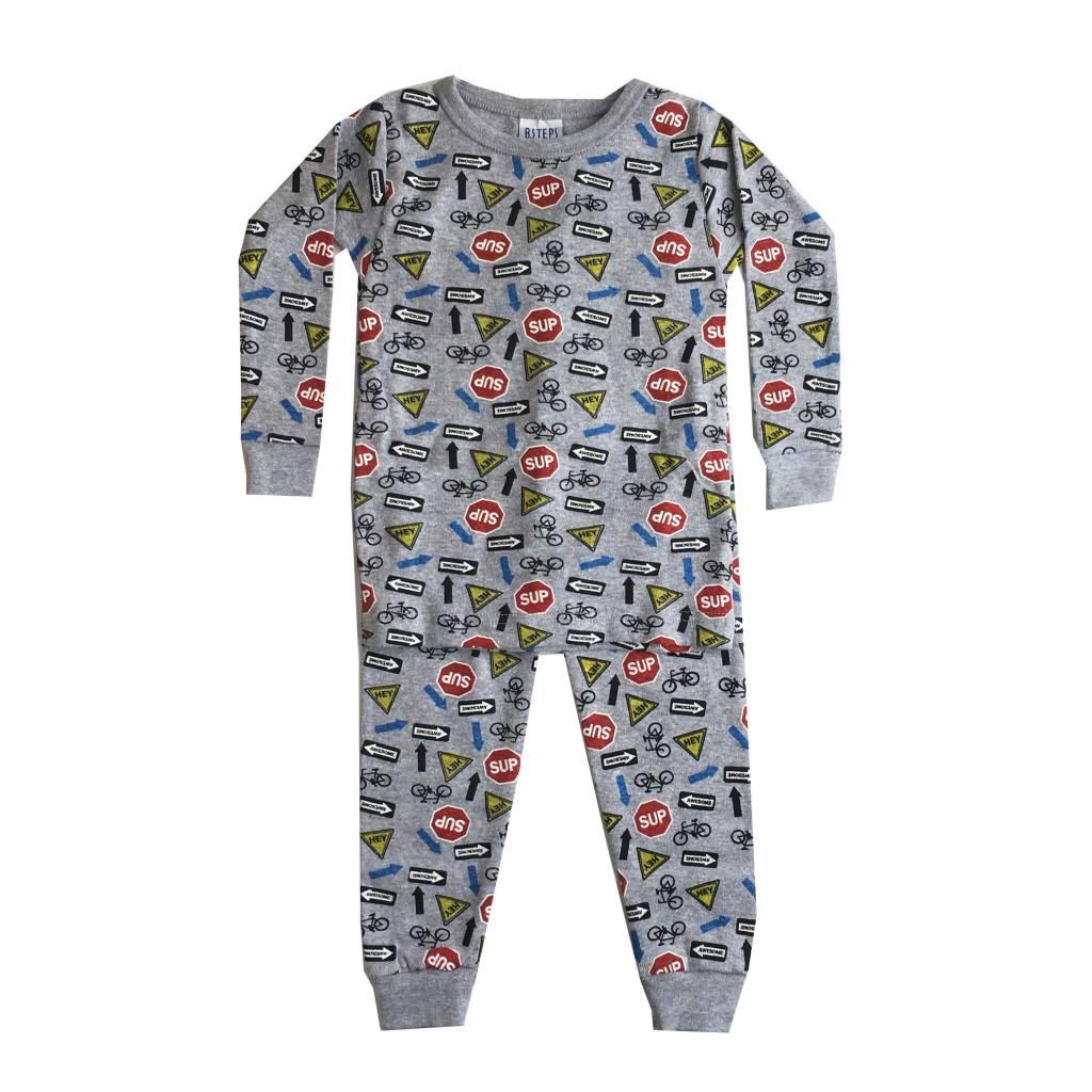Baby Steps Street Signs 2pc Pajama Set