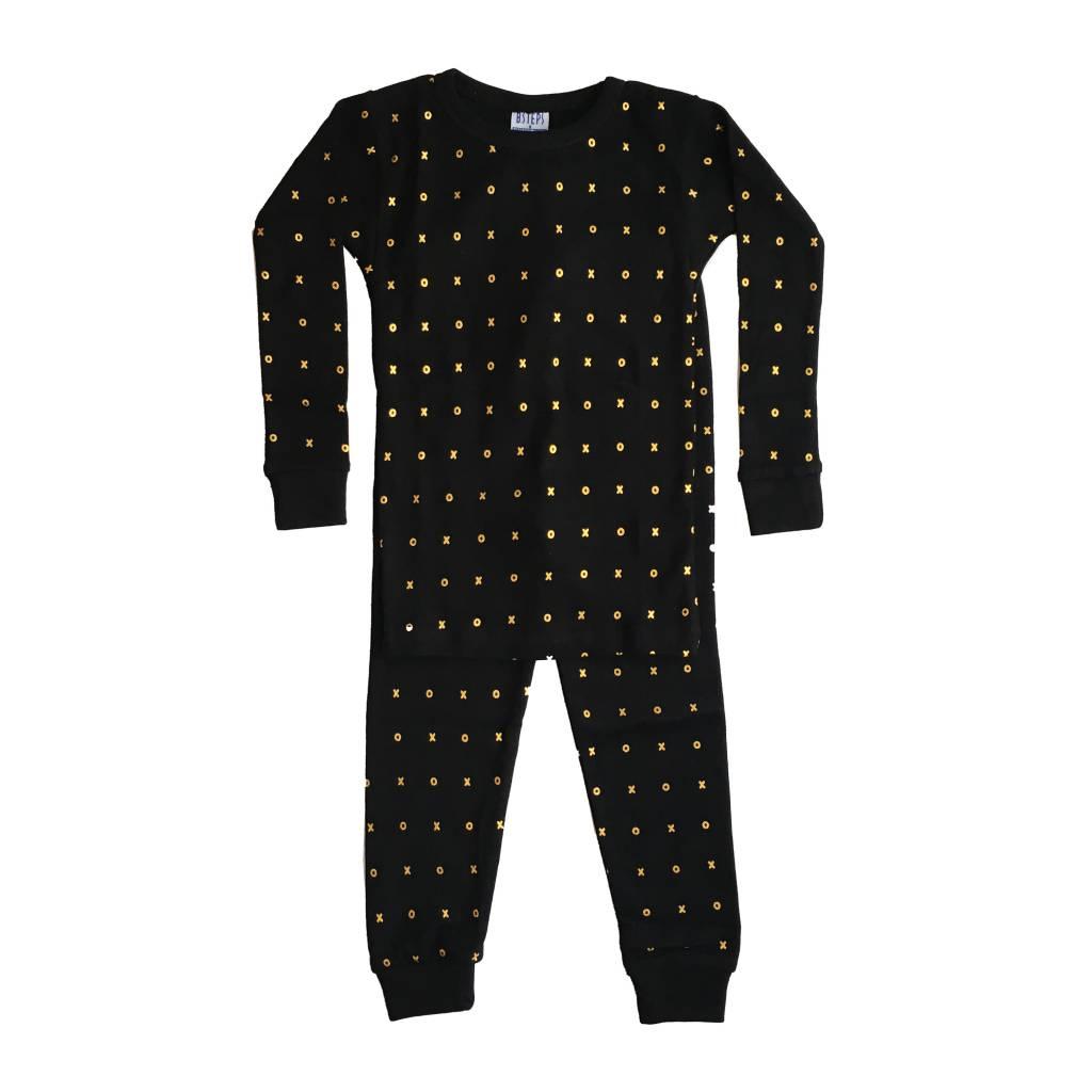 Baby Steps Gold Foil XO 2pc Pajama Set