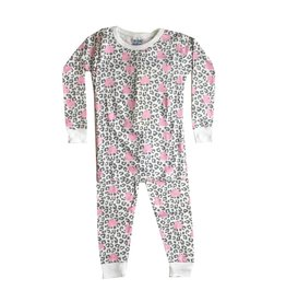 Baby Steps Leopard Hearts 2pc Pajama Set
