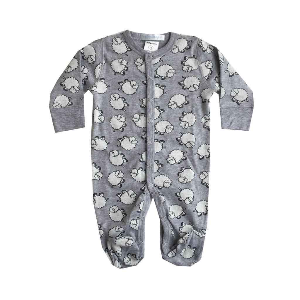 Baby Steps Grey Sheep Footie