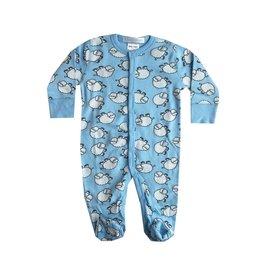 Baby Steps Blue Sheep Footie