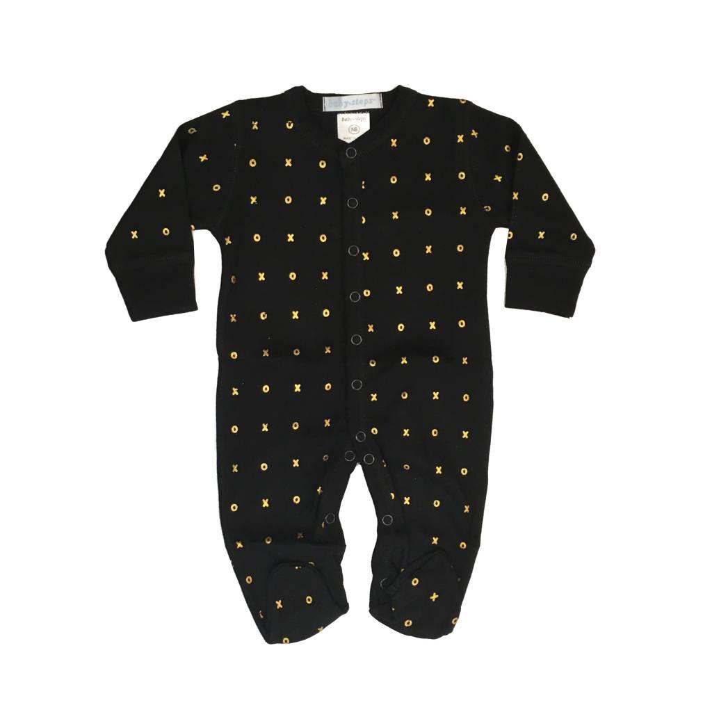 Baby Steps Gold Foil XO Footie