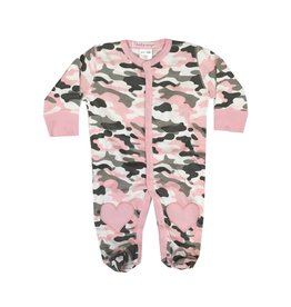 Baby Steps Pink Camo Footie