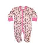Baby Steps Pink Moons Footie