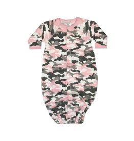 Baby Steps Pink Camo Convertible Gown NB