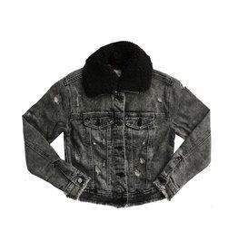 Tractr Black Denim Jacket