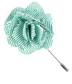 Tie Bar LP024 Little Stripe Lapel Pin - Green