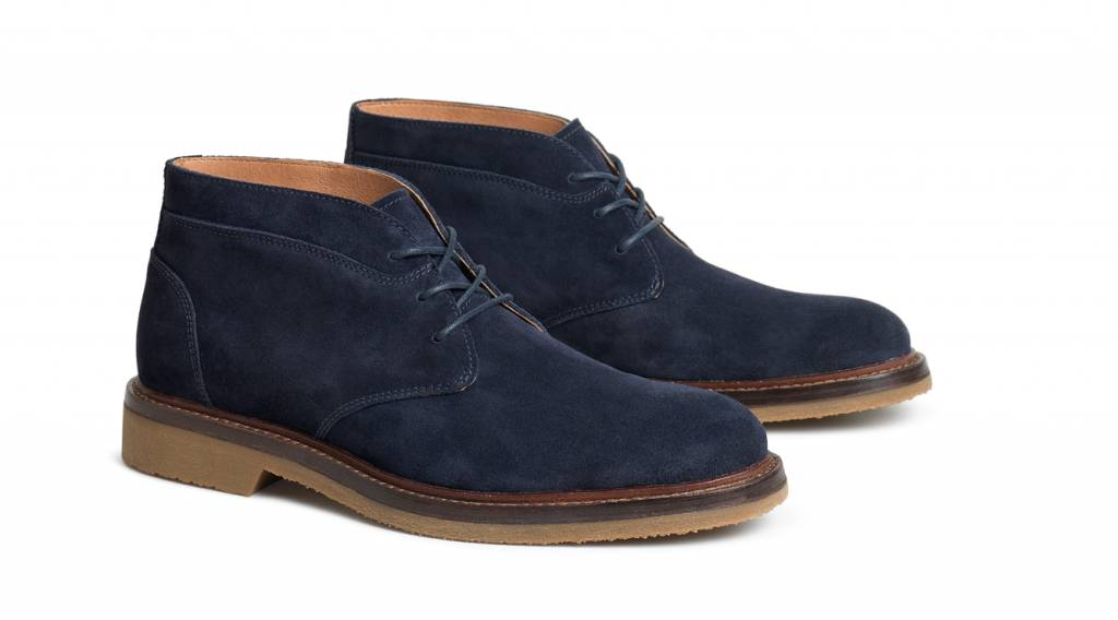 Trask Blue Suede Chukka