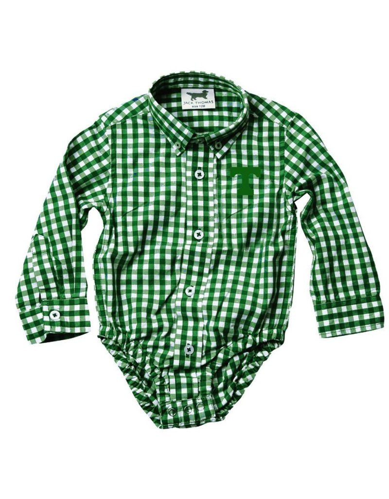 Wes & Willy Gingham Onesie