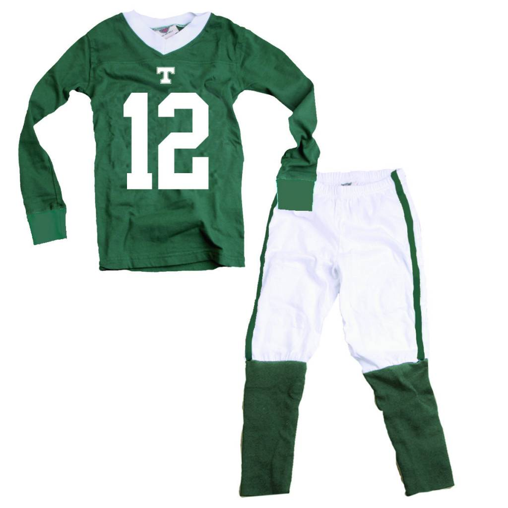 Wes & Willy Final Sale Football Cotton Pajamas