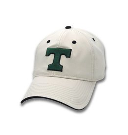 The Game Power T Tan Hat with Velcro back with Trinity