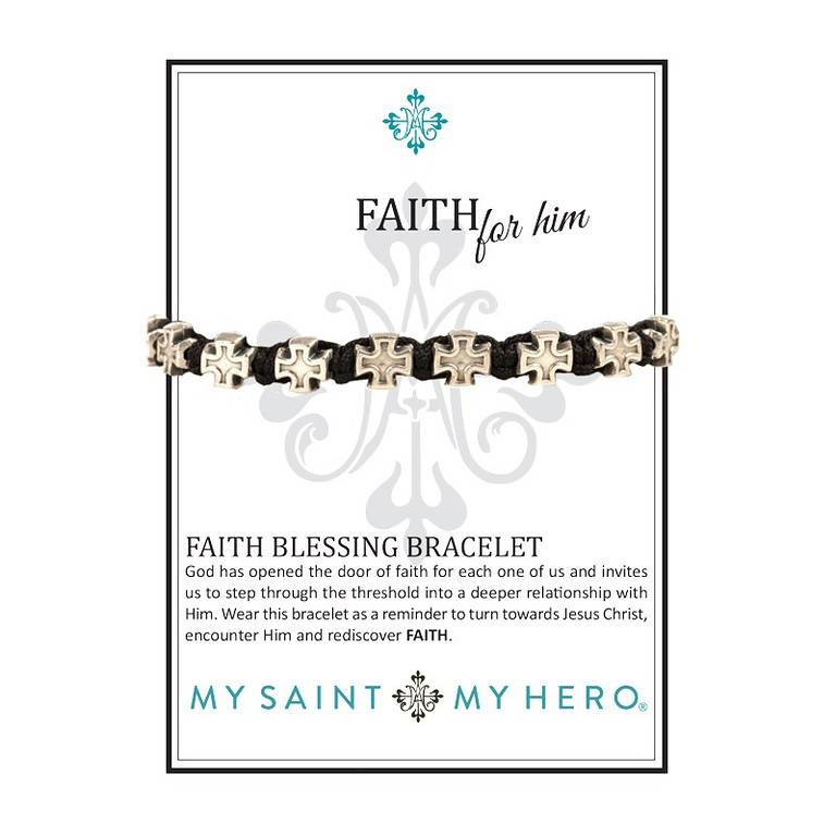 My Saint My Hero Faith For Him Bracelet