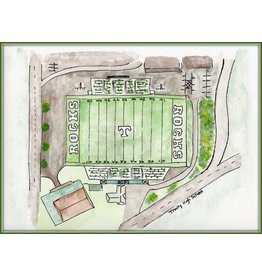 Water color Prints Football Stadium