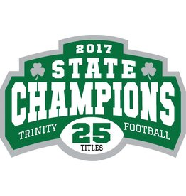 Blue 84 State Champ 2017 Football Sticker/Car window Decal