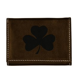 Carolina Sewn Wallet Trifold- Shamrock Embossed