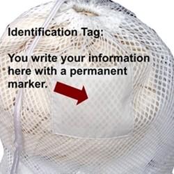 Large White sports mesh bag