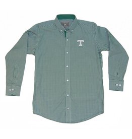 Dress Shirt Falling Leaf Green Checked
