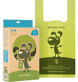 EARTH RATED POOPBAGS EARTH RATED POOPBAGS CASE 120 ECO-FRIENDLY BAGS WITH HANDLE UNSCENTED