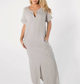 EUROPEAN CULTURE Short Sleeve Long Tee-Shirt Dress