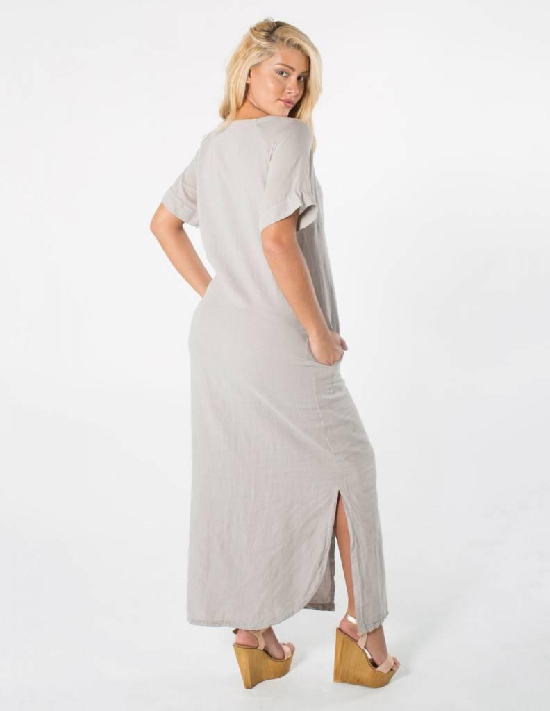 EUROPEAN CULTURE Short Sleeve Long Tee-Shirt Dress