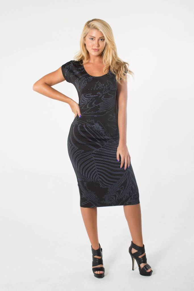 ANIMAPOP Reversible Dress Abstract Print