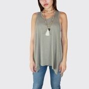 FRESH LAUNDRY Drop Underarm Tank Olive NS7544