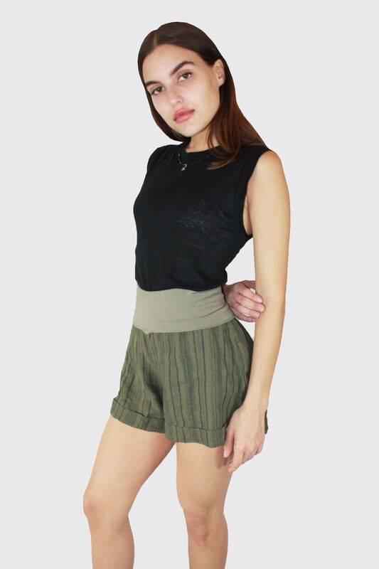 FRESH LAUNDRY Foldover Linen Shorts LS1010