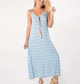 SKEMO Palm Tree Maxi Dress